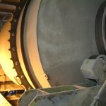 Large drum mixer in a power station